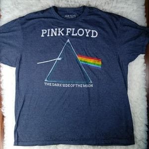 Pink Floyd Marble Gray Spell Out Graphic T Shirt